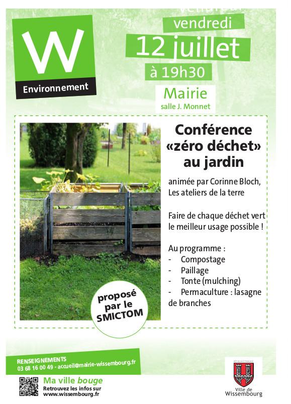 Conférence «Zéro déchet au jardin» @ Mairie, salle J. Monnet